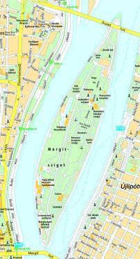 margitsziget térkép Margitsziget térkép